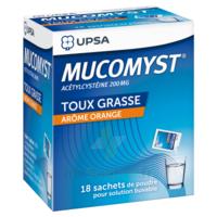 MUCOMYST 200 mg Poudre pour solution buvable en sachet B/18 à Nice