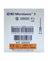 BD MICROLANCE 3, G25 5/8, 0,5 mm x 16 mm, orange  à Nice