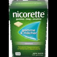 NICORETTE 2 mg Gom à mâcher médic sans sucre menthe fraîche Plq/105gom à Nice