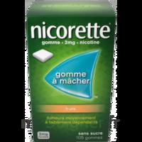 Nicorette 2 mg Gomme à mâcher médicamenteuse sans sucre fruits Plq/30 à Nice