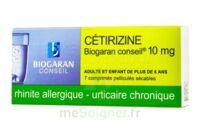 CETIRIZINE BIOGARAN CONSEIL 10 mg, comprimé pelliculé sécable à Nice