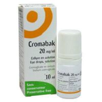 CROMABAK 20 mg/ml, collyre en solution à Nice