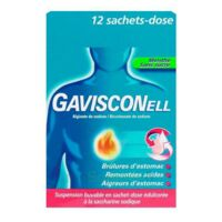 GAVISCONELL Suspension buvable sachet-dose menthe sans sucre 12Sach/10ml à Nice