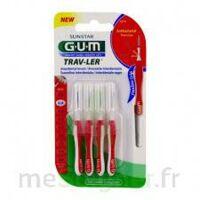 GUM TRAV - LER, 0,8 mm, manche rouge , blister 4 à Nice