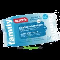 Assanis Family Lingette antibactérien mains Pochette/64 à Nice