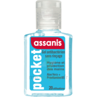 Assanis Pocket Gel antibactérien mains 20ml à Nice