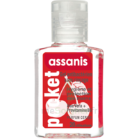 Assanis Pocket Parfumés Gel antibactérien mains cerise 20ml à Nice