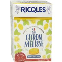 Ricqles Sucres Cuits Bonbon Citron mélisse sans sucre B/40g à Nice