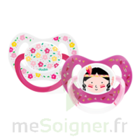 Dodie Duo Sucette anatomique silicone +18mois Girly à Nice