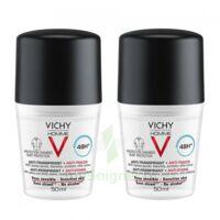 Vichy Homme Déodorant anti-transpirant anti trace 48H 2*Billes/50ml à Nice