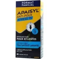 Apaisyl Anti-poux Xpress 15' Lotion antipoux et lente 100ml+peigne à Nice