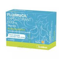 FLUIMUCIL EXPECTORANT ACETYLCYSTEINE 600 mg Glé s buv adultes 10Sach à Nice